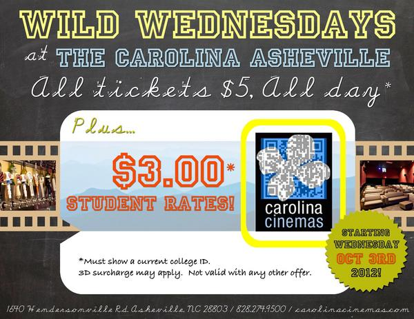 'Wild Wednesdays' slash ticket prices at The Carolina