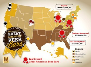 CraftBeer.com readers say Thirsty Monk is #1 favorite bar in South, #3 overall
