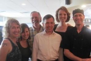 Dennis Kucinich dines in Asheville at Plant