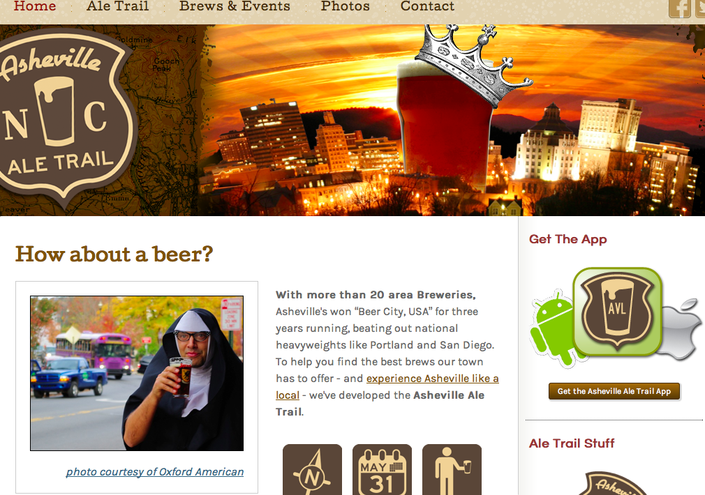 New Asheville Ale Trail website, app, promises to be your online beer guide