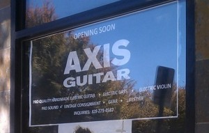 Axis Guitar: Coming soon to Patton Avenue