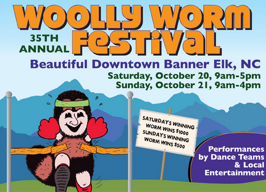 Woolly worms will give their winter prediction at annual Banner Elk fest Oct. 20-21
