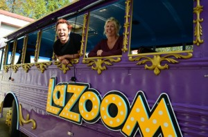 Citizen-Times: LaZoom gets a new purple party bus