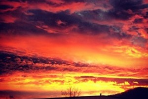 Sunrise, sunset: Gorgeous photos from last night and this morning
