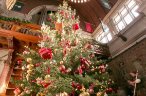 Video: Annual Biltmore Christmas tree raising