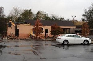 Demolition begins at La Carreta