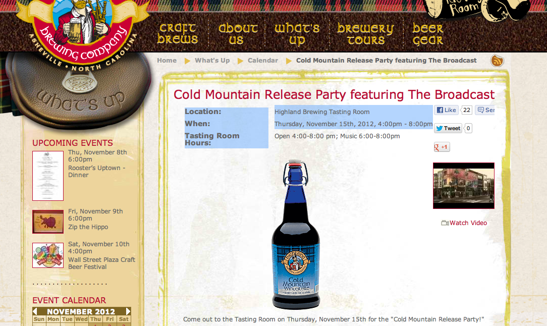 The beer is here: Cold Mountain Winter Ale release party at Highland on Nov. 15