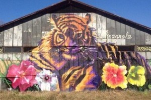 New Belgium in Asheville: Tiger mural