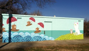 Ashvegas reader: New Armbruster mural in Montford