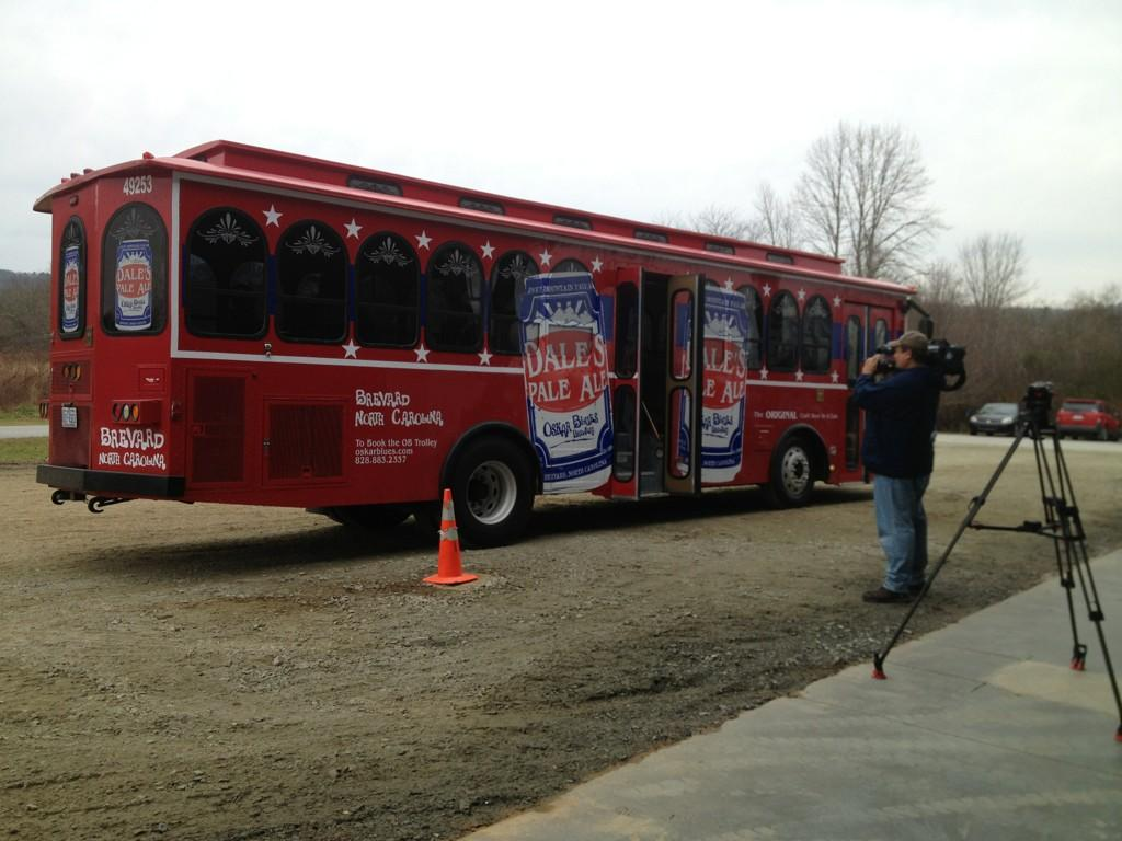 Authorities pull over Oskar Blues trolley headed to Brevard brewery opening