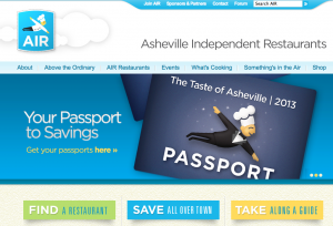 Coupon book for discounts at Asheville independent restaurants on sale