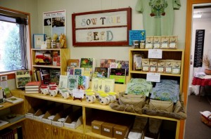 Sow True Seed offering seed collections, T-shirts, mugs at downtown store