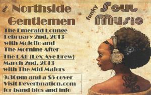 Northside Gentlemen to play Emerald Lounge on Feb. 2