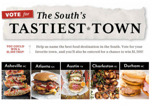 Southern Living: Asheville is one of South's Tastiest Towns