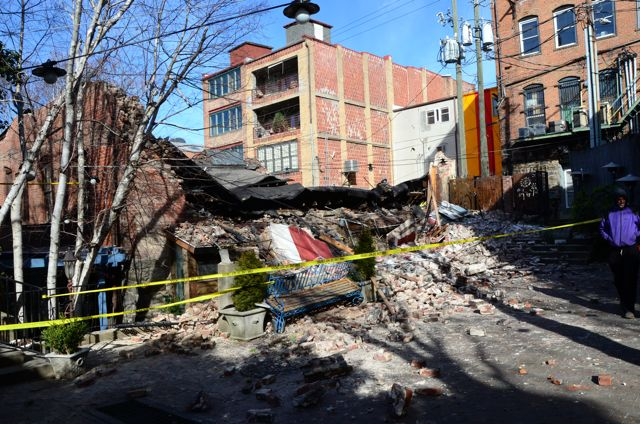 UPDATED: Downtown building collapses, others evacuated; Bouchon closed Thursday