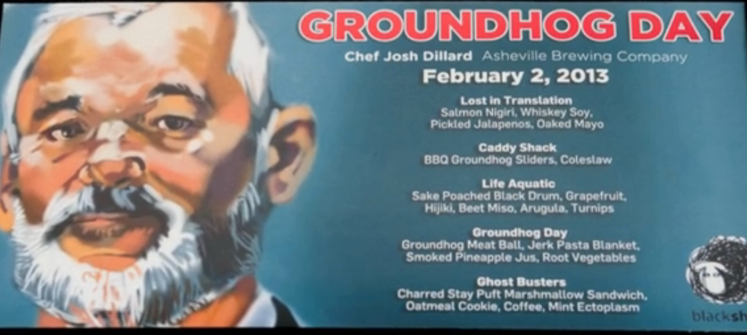 To mark Groundhog Day, diners at Blind Pig Supper Club snack on, well, groundhog