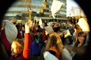 Asheville's Valentine's Day downtown pillow fight is back in 2013