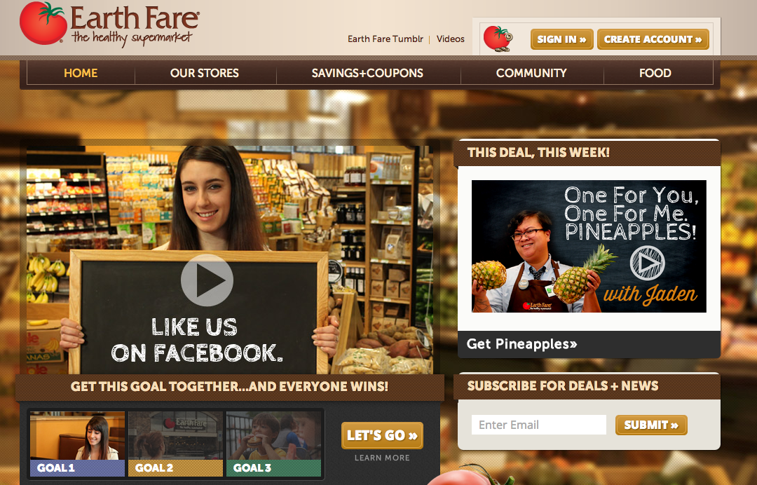 Earth Fare unveils new website