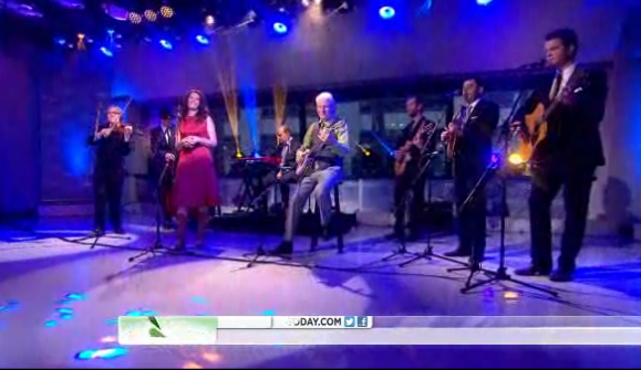 Steep Canyon Rangers, with Steve Martin and Edie Brickell, perform on Today Show