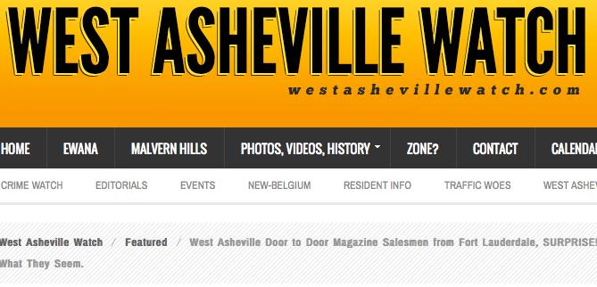West Asheville Watch: Residents question door-to-door magazine salesmen