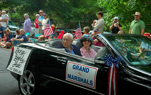 George Beverly Shea, at 101 years old, served as grand marshal of Montreat's July Fourth parade three years ago. / Photo by Jason Sandford