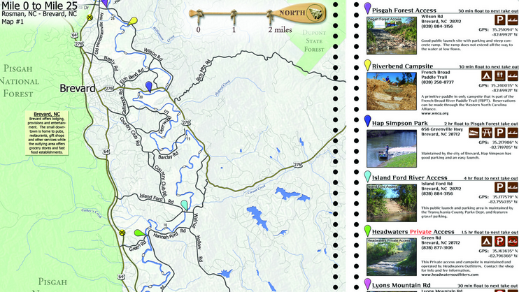 WNC Alliance releases official map of French Broad River Paddle ...