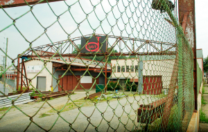 This is the former Dave Steel site at the corner of Roberts Street and Clingman Avenue in the River Arts District. The building has been demolished and the site has been empty for a couple of years. Next up - apartments, mixed-use space and a parking deck./ Photo by Jason Sandford