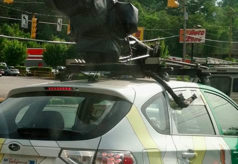Google Street View cars on the streets of Asheville