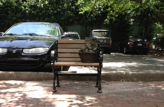 City of Asheville replaces Urban Trail bench with new, ridiculously small version