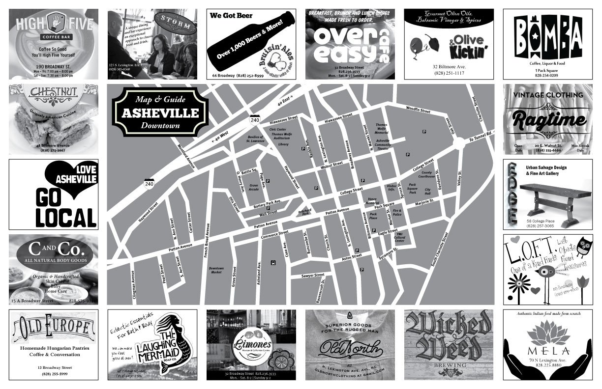 New fold-out Asheville map will hit streets in August