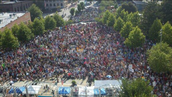 PHOTOS: Thousands gather for Mountain Moral Monday protest in downtown Asheville
