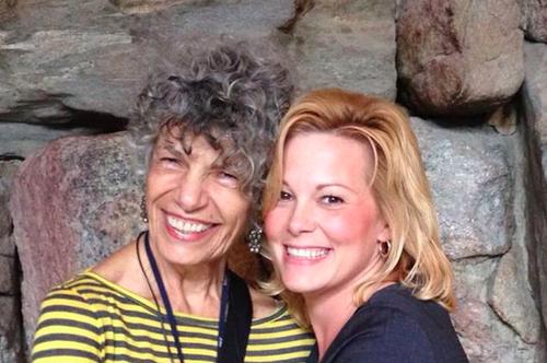 NPR's Susan Stamberg, left, with Tracey Johnston-Crum, spokeswoman for the Grove Park Inn