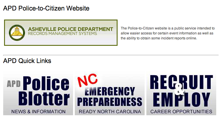 Asheville police move some reports online with Police to Citizen initiative