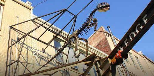 Mechanical dinosaur crafted by beloved Asheville artist set for permanent display in River Arts District