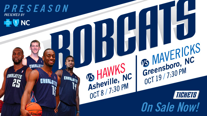 Charlotte Bobcats set to play Atlanta Hawks in Asheville on Oct. 8