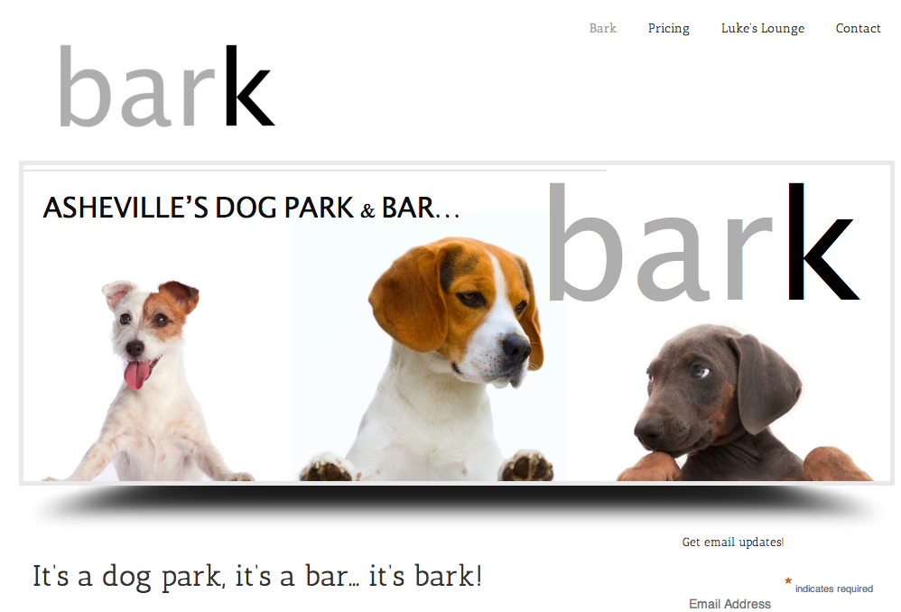 Bark, a new dog park/bar, is coming to Asheville in early 2014