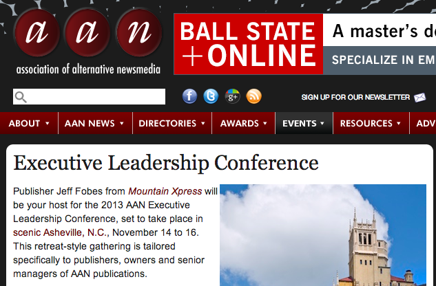 Mountain Xpress to host Association of Alternative Newsmedia Executive Leadership Conference