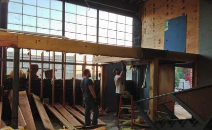 Construction gets underway at new Asheville craft brewery, Twin Leaf Brewing