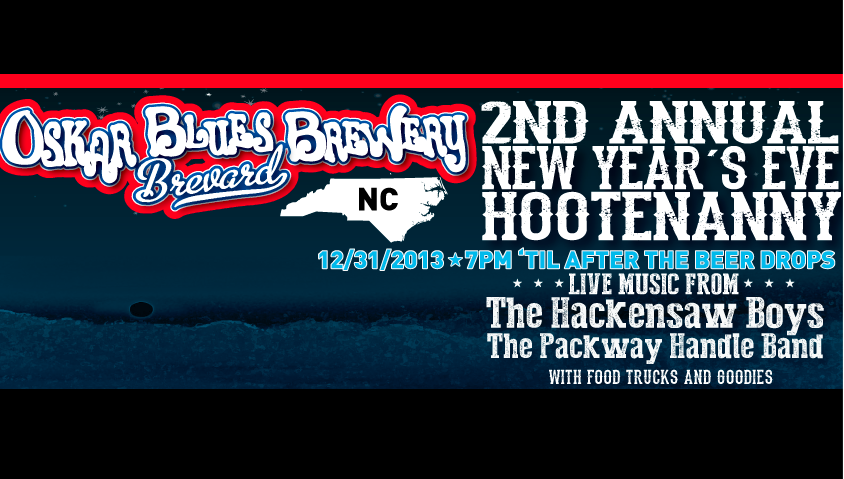 Win two tickets to Oskar Blues first anniversary New Year's Eve blow-out