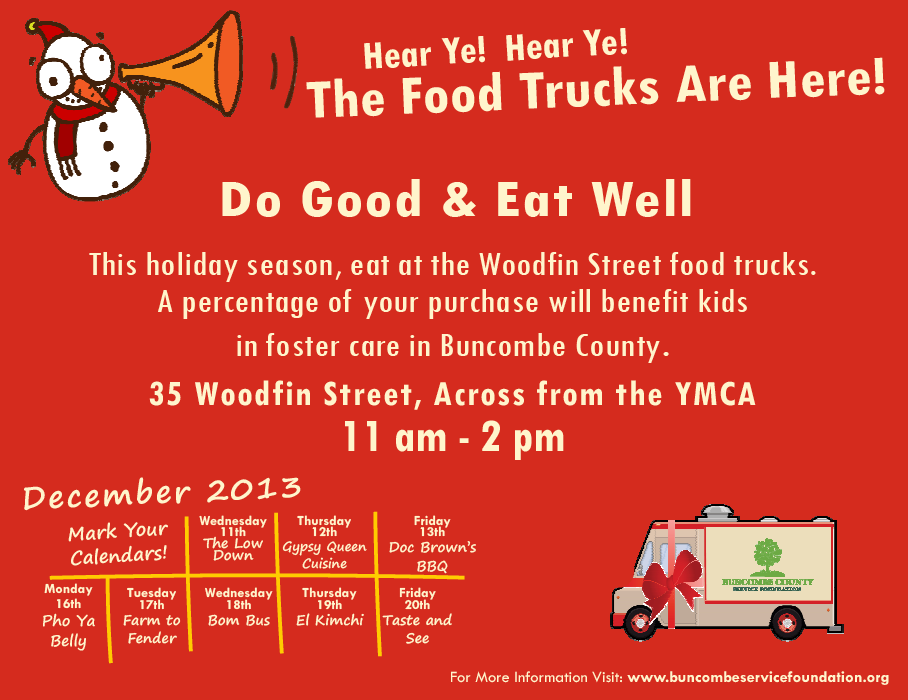 8 Days of Food Trucks fundraiser in downtown Asheville to benefit children in foster care