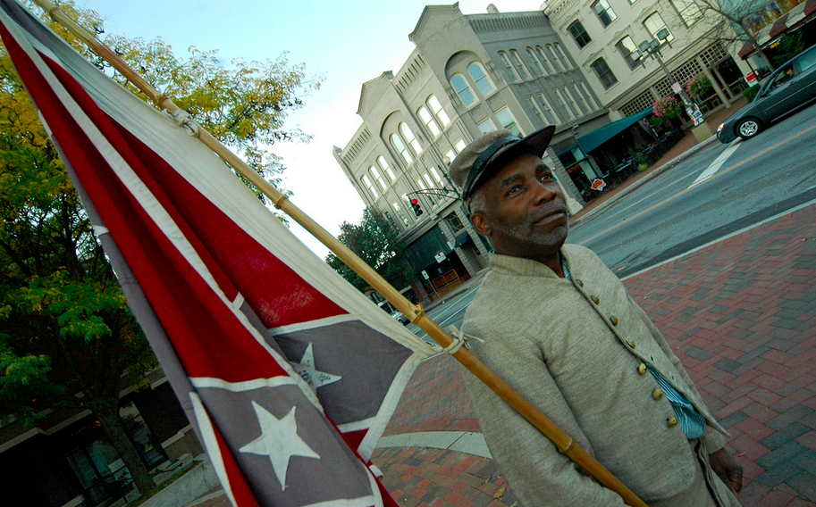 Gawker: Group of Confederate flag lovers, including African-American man from Asheville, disrupt meeting