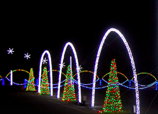 Massive new Christmas light show on display at WNC Ag Center just south of Asheville