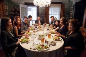 """The family that eats together..."" Well, there's always an exception. (The Weinstein Company)"
