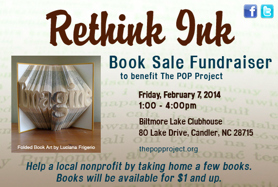 'Rethink Ink' book sale set for Feb. 7 at Biltmore Lake clubhouse, will benefit POP Project