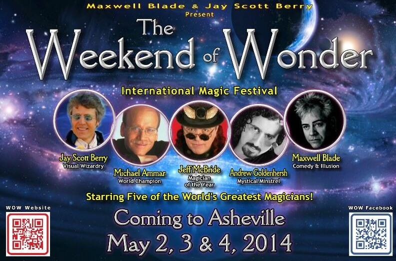 The Weekend of Wonder, a three-day magic festival, coming to Asheville in May