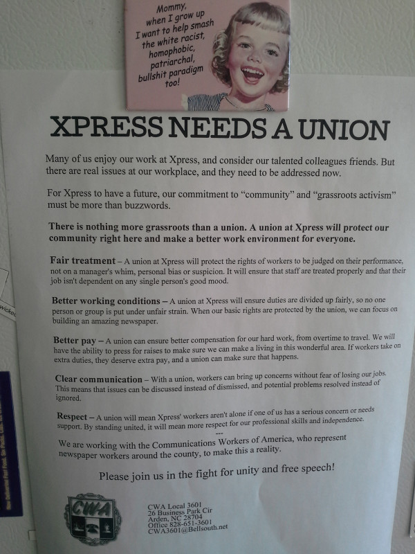 Xpress'  union flier