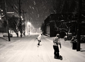 UPDATED Asheville residents frolic in record-setting snow as city slowly recovers