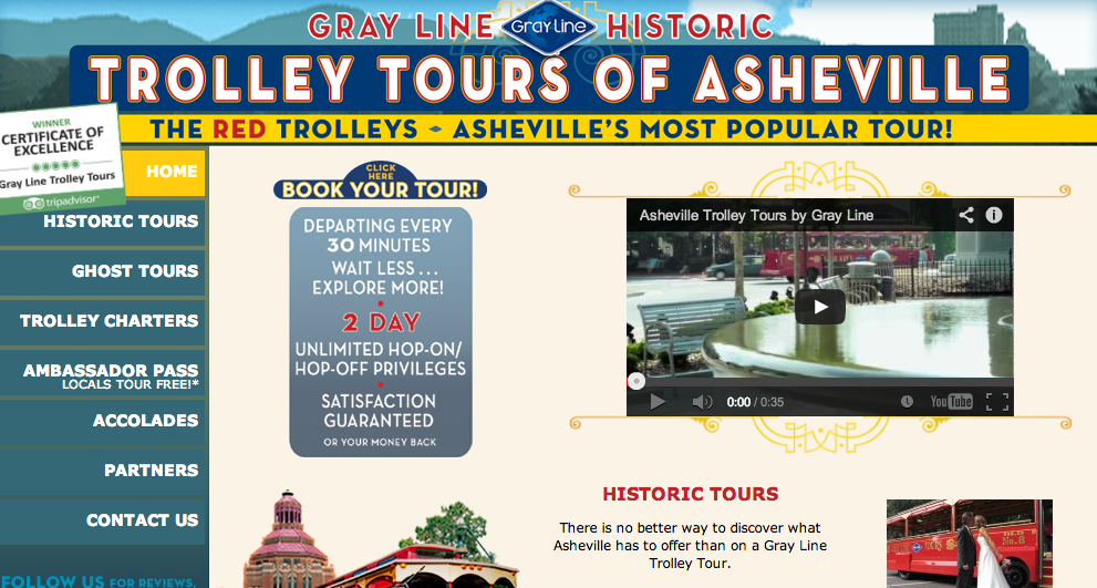 Gray Line Trolley Tours of Asheville buys Asheville Historic Trolley Tours