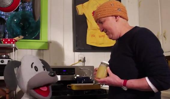 Asheville art licensing team captures Laurey Masterton in cooking videos for kids
