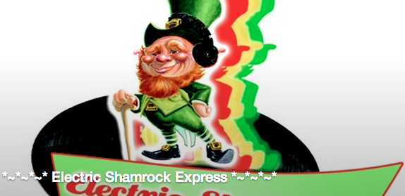 All aboard the Electric Shamrock Express! Asheville Pizza, Orange Peel and LaZoom team up for Monday party